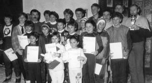 Siegerehrung Pokallanglauf TSV Mönchröden 1987