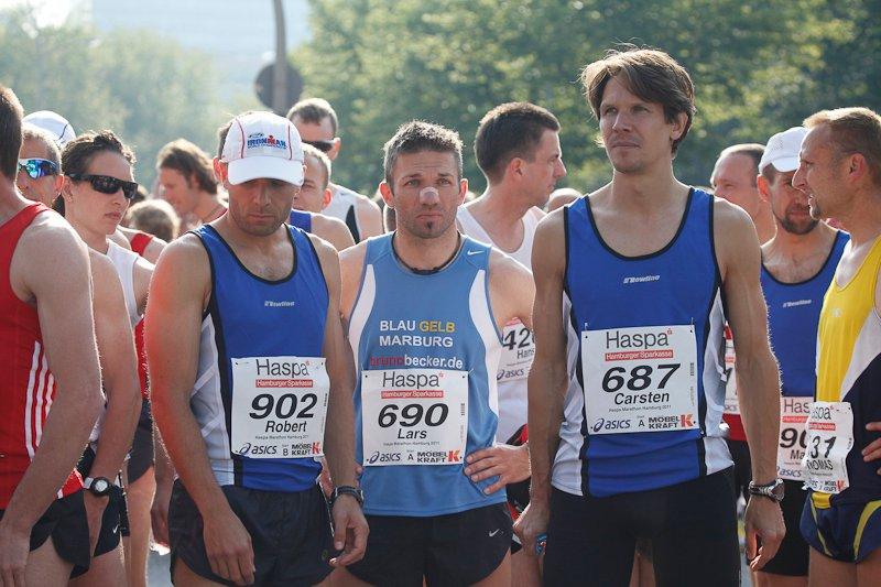 Vor dem Start: Robert Ruff, Lars Siegmund, Carsten Stegner // Foto: Norbert Wilhelmi