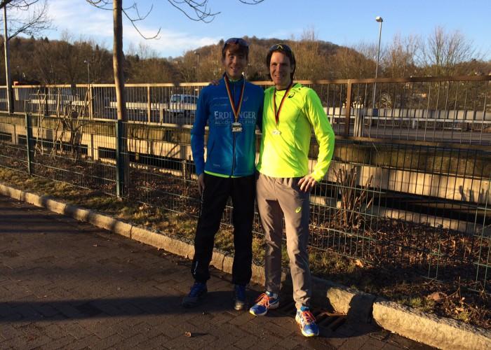 Deutscher Meister 50 km Niels Bubel und in der M40 Carsten Stegner
