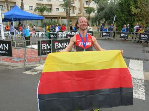 Starkes Rennen und Weltmeister in seiner AK: André Collet